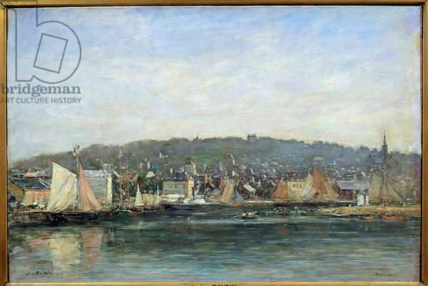 View of the port of Trouville Painting by Eugene Louis Boudin (1824-1898), 19th century. Reims, Museum of Fine Arts
