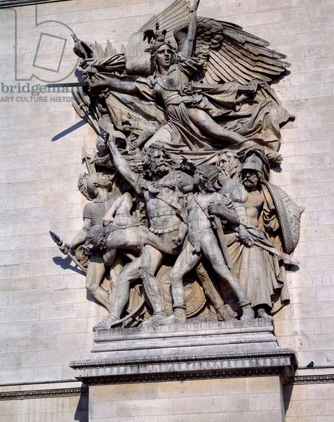 La Marseillaise de l'Arc de Triomphe de Paris. Sculpture by Francois Rude (1784 - 1855), 19th century.