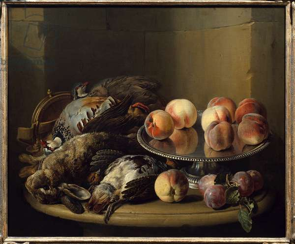 Still Life, Game and Pins Painting by Francois Desportes (1661-1743) 18th century Paris, Decorative Arts