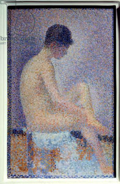 Profile installer Painting by Georges Seurat (1859-1881) 1887 Dim. 0,25x0,16 m Paris musee d'Orsay - Model in profile. Painting by Georges Seurat (1859-1881) 1887. 0.25 x 0.16 m. Orsay Museum, Paris