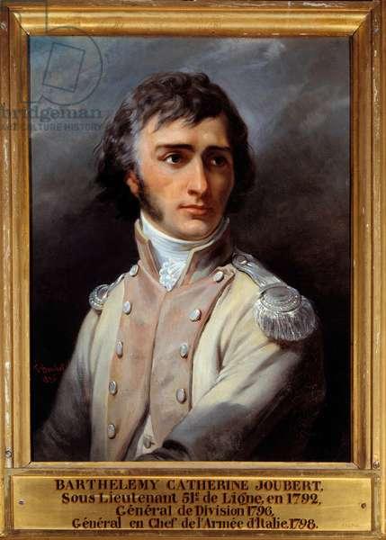 Portrait of Barthelemy Joubert (1769 - 1799) in second lieutenant's uniform, 1792. Painting by Francois Bouchot (1800-1842), 1836. Oil on canvas. Dim: 0.72 x 0.55m.