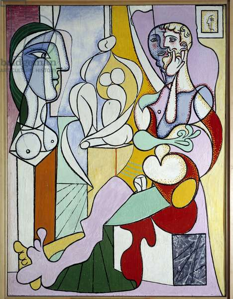 The sculptor Oil painting on counterplate by Pablo Picasso (1881-1973) 1931 Sun. 0,12x0,96 m Paris, Musee Picasso