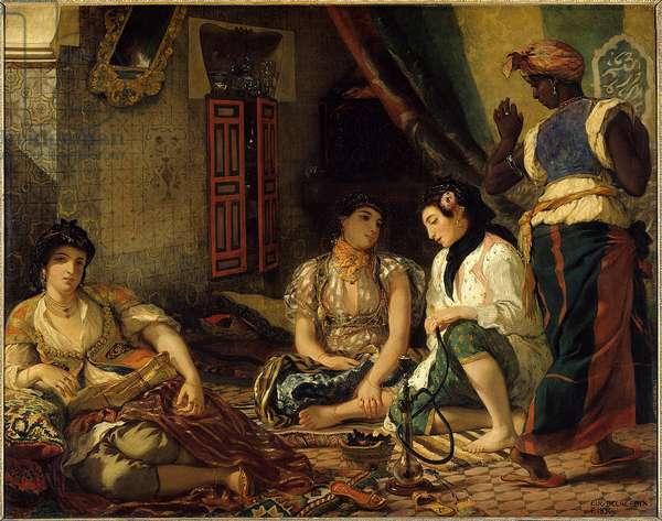 Les womans d'Algiers dans leur appartement Peinture d'Eugene Delacroix (1798-1863) 1834 Sun. 1,80 x 2,29 m Paris. Louvre Museum