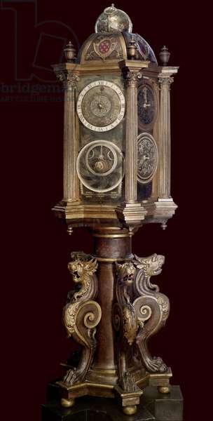 Planetary clock (astronomical machine). 16th century. Musee Guimet.