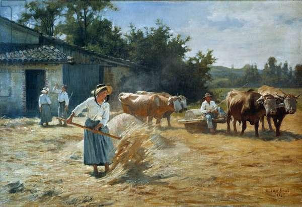 Works of the field Painting by Edouard Debat Ponsan (Debat-Ponsan, 1847-1913) 20th century Tours, Museum of Fine Arts