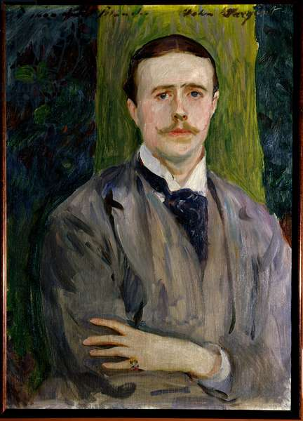 Portrait of Jacques Emile (Jacques-Emile) Blanche (1861-1942), French painter. Painting by American John Singer Sargent (1856-1925). Rouen, Museum of Fine Arts