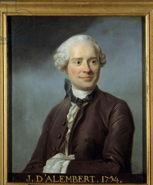 Portrait of Jean Le Rond d'Alembert (1717-1783), French philosopher, writer and mathematician. Anonymous painting after that of Maurice Quentin Delatour dit Quentin De La Tour or Quentin De Latour (1704-1788). Musee de Versailles. - Portrait of Jean Le Rond d'Alembert (1717-1783), French philosopher, writer and mathematician. Anonymous painting after Maurice Quentin Delatour called Quentin De La Tour or Quentin De Latour (1704-1788).