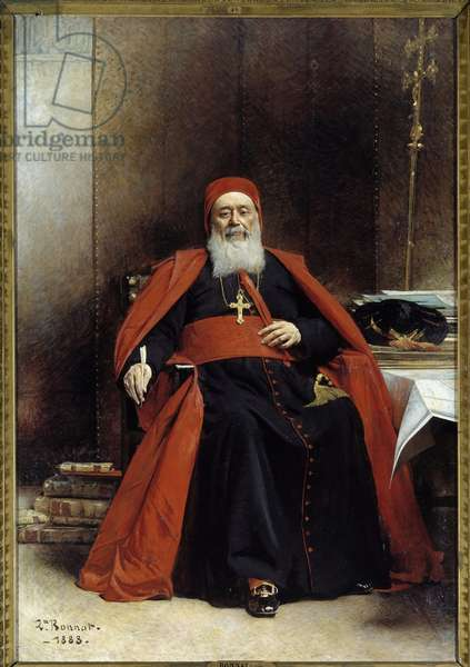 Portrait in foot of Charles Lavigerie (1825-1892) Archeveque of Algiers, Cardinal Primate of Africa Painting by Leon Joseph Bonnat (1833-1922) 1888 Sun. 2,39 x 1,64 m