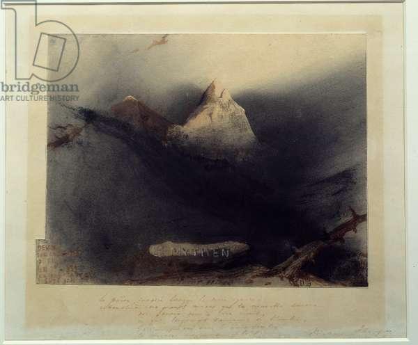La montagne des mythes Drawing by Victor Hugo (1802-1885) 1839 Paris, Maison Victor Hugo