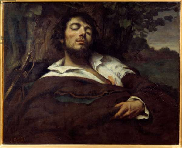 L'homme wesse Painting by Gustave Courbet (1819-1877) 1844 Sun. 0,81x0,97 m Paris, musee d'Orsay