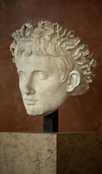 Art Rome Head of the Emperor Augustus (63 BC - 14 AD) marble