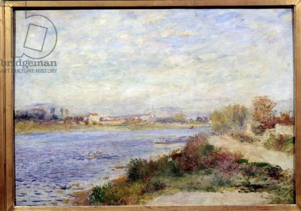 View of the Seine in Argenteuil Painting by Pierre Auguste Renoir (1841-1919) 1873 Sun. 0,46x0,65 m Paris, musee d'Orsay