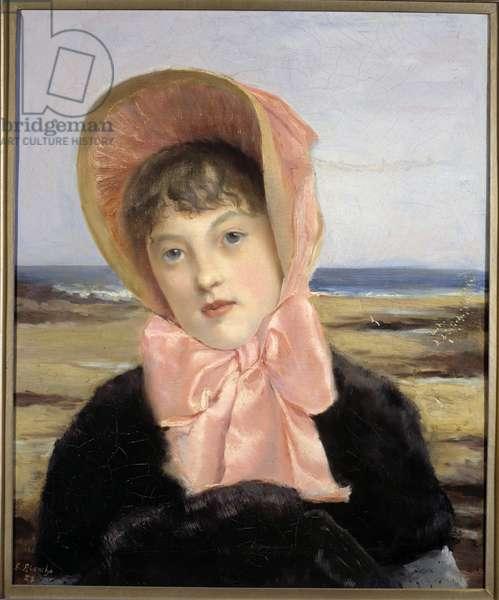 La capeline rose by Jacques Emile (Jacques-Emile) Blanche (1861-1942), 1883 (painting)