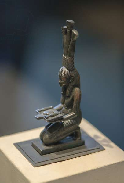 Art Egypt The genie of the flood of the Nile (low period 664 - 332 BC) bronze