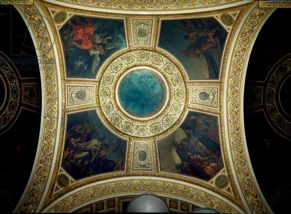 History and Philosophy. Cupola of the library of the National Assembly. Painting by Eugene Delacroix (1798-1863), 1841. Paris, Palais Bourbon.