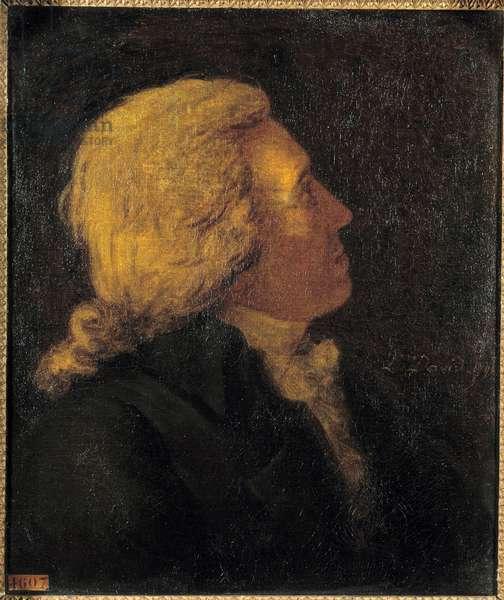 Portrait of Bertrand Barere de Vieuzac (1755-1841), member of the Committee of Salut Public Painting by Jacques Louis David (1748-1825) 1790 Sun. 0,55 x 0,46 m