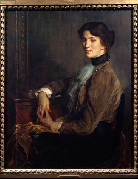 Portrait of the woman of letters Florence Halevy (1877-1957), wife of writer Elie Halevy (1870-1937)