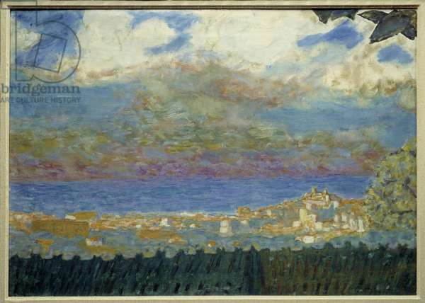 Storm Sky on Cannes Painting by Pierre Bonnard - 1945