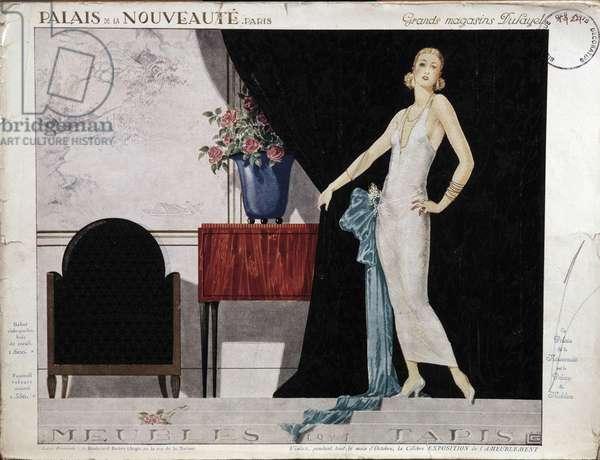 Le Palais de la Nouveau Poster for Dufayel department stores in Paris. 1924 Paris, Decorative Arts