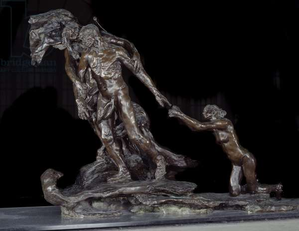 The Wall Age Bronze sculpture by Camille Claudel (1864-1943) 1893-1903 Paris, Musee d'Orsay