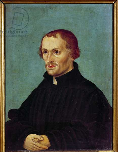 Portrait of Philippe Melanchton (Philipp Melantone or Melanchthon or Schwartzerd, 1497-1560), German religious reformer Painting of the German school. 16th century Paris. Museum of Protestantism