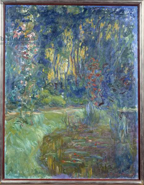A corner of Giverny's pond. Painting by Claude Monet (1840-1926), 1919. Oil on canvas. Dim: 1,17 x 0,83m. Grenoble, Museum of Fine Arts