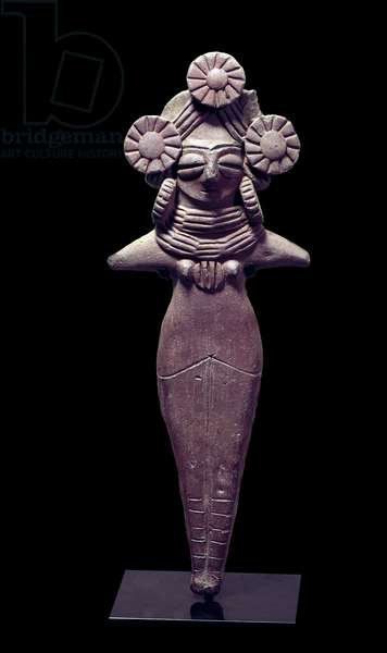 Mother Goddess Statuette linked to the cult of fecondite. Indian sculpture in terracotta. 3rd century BC. Paris, Guimet Museum, National Museum of Asian Arts