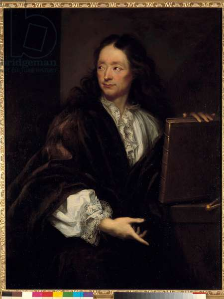 Portrait of the sculptor Michel Anguier (1612-1686) Painting by Jacques Agar (1640-1716) 1675 Sun. 1,12 X 0,87 m