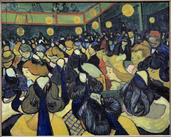La salle de danse a Arles Painting by Vincent Van Gogh (1853-1890) 1888 Sun. 0,65x0,81 m Paris, musee d'Orsay - The dance Hall in Arles. Painting by Vincent Van Gogh (1853-1890), 1888. 0.65 x 0.81 m. Orsay Museum, Paris