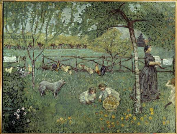 Le grand jardin Painting by Pierre Bonnard (1867-1947) 1894 Sun. 1,68x2,2 m Paris, Musee d'Orsay