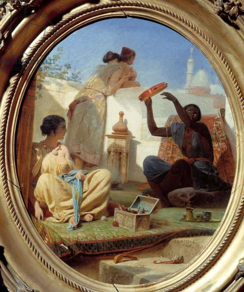 On the terrace. Painting by Jean Leon Gerome (1824-1904), 1843. Oil on canvas. Meaux, Bossuet Museum