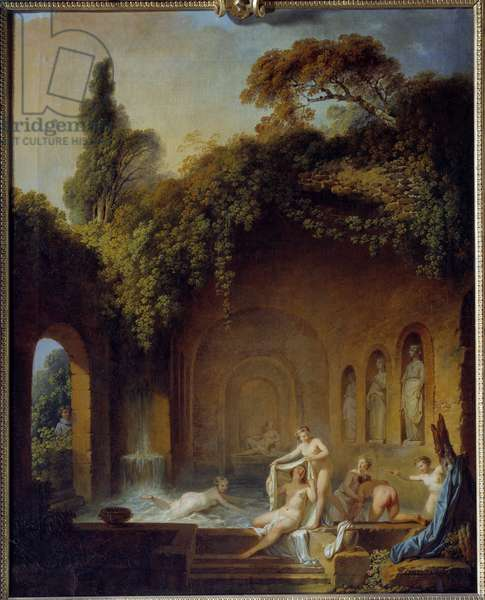 The bath of the nymphs Painting by Jean Jacques Francois Barbier l'Ain (1738-1826) 19th century Rouen, Musee des Beaux Arts