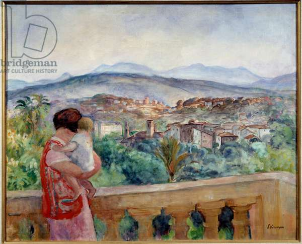 The Canet in spring. Painting by Henri Lebasque (1865 - 1937), 1927. Oil on canvas. Dim: 0.60 X 0.73m. Caen, Musee des Beaux Arts.