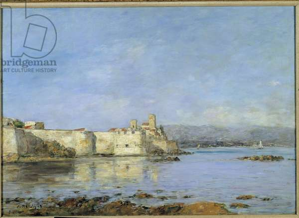 View of the port of Antibes Painting by Eugene Louis Boudin (1824-1898) 1893 Sun. 0,46 x 0,66 m Paris, musee d'Orsay