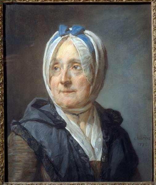 Portrait of Madame Chardin nee Francoise Marguerite Pouget (1707-1791) Pastel painting by Jean Baptiste Simeon Chardin (1699-1779) 1775 Sun. 0,46x0,38 m  - Portrait of Madame Chardin born Francoise Marguerite Pouget (1707-1791). Pastel painting by Jean Baptiste Simeon Chardin (1699-1779), 1775. 0.46 x 0.38 m. Louvre Museum, Paris