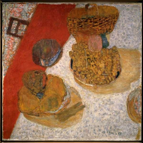 A corner table Painting by Pierre Bonnard (1867-1947) 1935 Paris, musee national d'art moderne