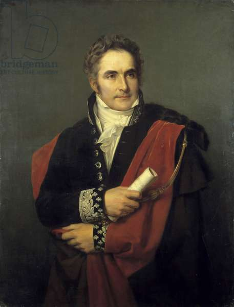 Portrait of Casimir Perier, minister, president of the council in 1831 Painting by Louis Hersent (1777-1860) 19th century. Dim. 1,65 x 0,90 m. Versailles, castle museum