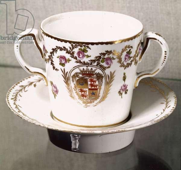 Louis XVI tableware: queen's aspen cup. 1775 Sevres, porcelain factory