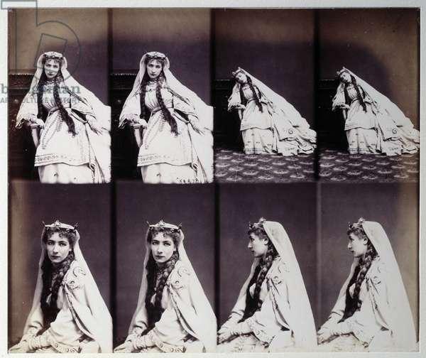Portrait of Henriette Rosine Bernard dit Sarah Bernhardt (1844-1923) in stage costume