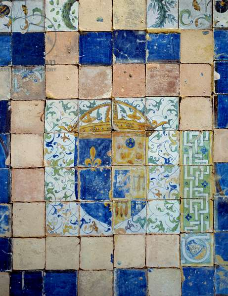 Ceramic tiles of the pavement of the Chateau d'Enouen made by Masseot Abaquesne (1526-1564 approx.) 1549-1551 Enouen, Musee national de la Renaissance
