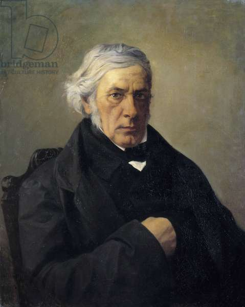 Portrait of the philosopher Victor Cousin (1792-1867) Painting by Louis Claude Mouchot (1830-1891). 19th century. Dim. 0,73 x 0,60 m  - Portrait of the philosopher Victor Cousin (1792-1867). Painting by Louis Claude Mouchot (1830-1891). 19th century. 0.73 x 0.60 m.