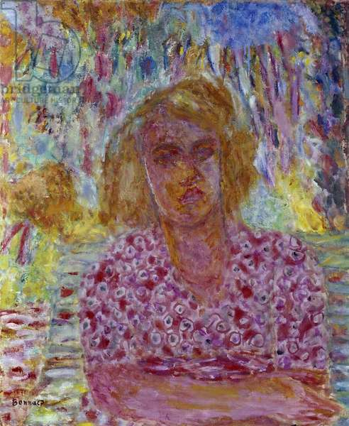 Portrait of Colette Carre. Painting by Pierre Bonnard (1867-1947), 20th century. Private collection