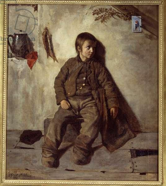 A Savoyard Chimney Painting by Auguste de Chatillon (1813-1881), 1832. Sun 0,88x0,76 m Rouen, musee des Beaux Arts