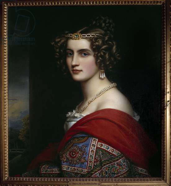 Portrait of Amalie von Schintling Painting by Josef Karl Stieler (1781-1858) 1831 Munich. Chateau De Nymphenburg