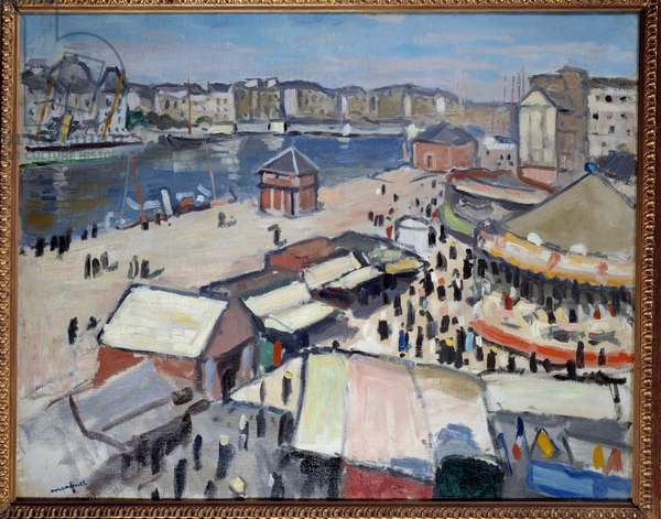 Carnival at Le Havre, 1906 (oil on canvas)