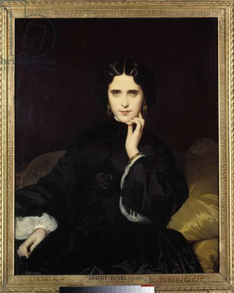 Portrait of Madame de Loynes (1837-1908) She held an important literary and political salon. Painting by Eugene Amaury-Duval (1808-1885) 1862 Sun. 0,82x1m. Paris, Musee d'Orsay
