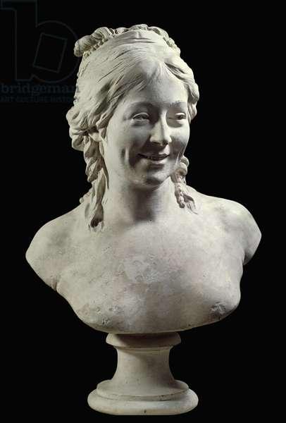 Portrait of Madame Houdon (nee Marie Ange Cecile Langlois) (1765-1823) Sculpture by Jean Antoine Houdon (1741-1828) 18th century Paris, Musee du Louvre