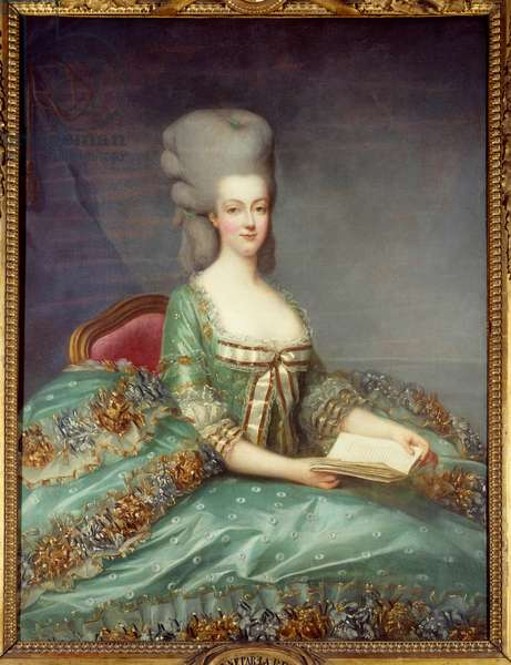 Portrait of Marie Antoinette (1755-1793) Queen of France This portrait was given by the Queen to her confessor in 1781. Painting by Francois Hubert Drouais (1727-1775) 18th century Private Collection - Portrait of Marie Antoinette (1755-1793), Queen of France. This portrait was given by the Queen's confessor in 1781. Painting by Francois Hubert Drouais (1727-1775), 18th century. Private collection