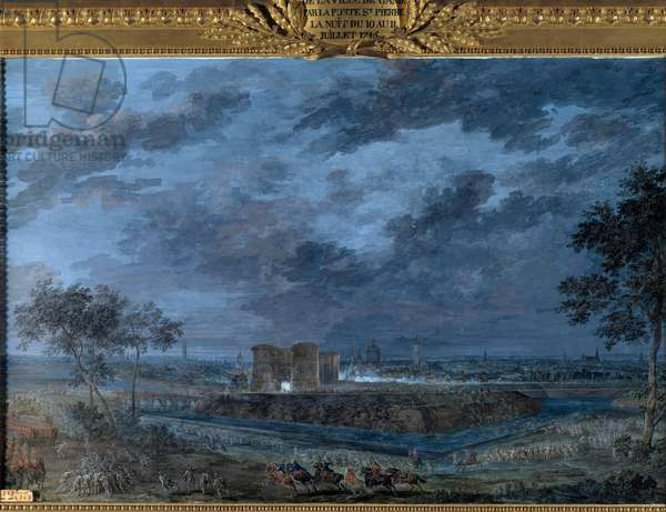 The Capture of Ghent on the Night of July 10 to 11, 1745 Painting a la gouache by Louis Nicolas Van Blarenberghe (1716-1794) 1787 Sun. 0,59 x 0,94 m Versailles, Musee du Chateau