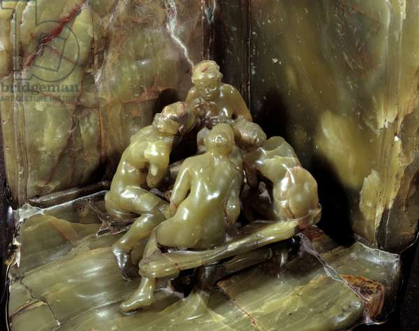 Les loveseuses Sculpture de bronze et onyx by Camille Claudel (1864-1943) 1897 Paris, Musee Rodin